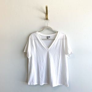 ASOS White V Neck Tee Shirt